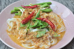 Tagliatelle tailandesi Fotografia Stock Libera da Diritti