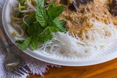 Tagliatelle tailandesi fotografia stock