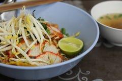 Tagliatelle tailandesi Immagini Stock