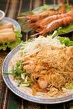 Tagliatelle tailandesi di stile Fotografie Stock Libere da Diritti