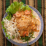 Tagliatelle tailandesi di stile Immagini Stock