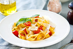 Tagliatelle with tomato Royalty Free Stock Photo