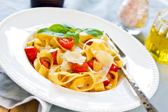 Tagliatelle with tomato Stock Image