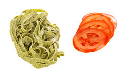 Tagliatelle and tomato Stock Image