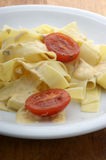 tagliatelle with tomato and sauce Royalty Free Stock Image