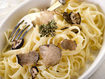 Tagliatelle with truffle Royalty Free Stock Photos