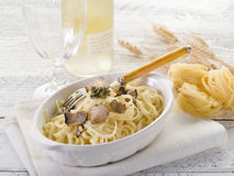 Tagliatelle with truffle royalty free stock photo