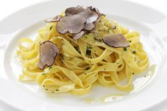 Tagliatelle with truffles royalty free stock photos
