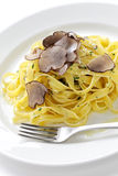 Tagliatelle with truffles Stock Image