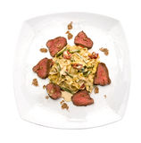 Tagliatelle with veal Stock Photography
