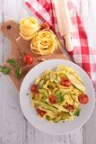 Tagliatelle and vegetable Royalty Free Stock Photos