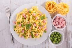 Tagliatelle and vegetable Stock Image