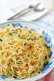 Tagliatelle vegetariane cinesi sane Fotografie Stock