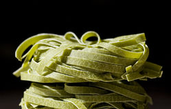 Tagliatelle verdi Stock Photo