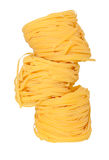 Tagliatelle on white Royalty Free Stock Images