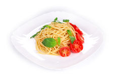 Tagliatelli pasta with tomatoes Stock Photography