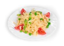 Tagliatelli pasta with tomatoes Stock Photos