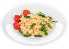 Tagliatelli pasta with tomatoes Royalty Free Stock Images