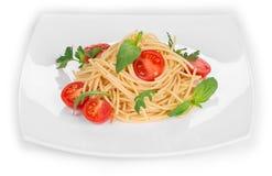 Tagliatelli pasta with tomatoes Royalty Free Stock Photos
