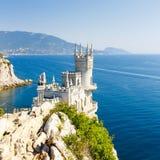 Tagliato della costa sud della Crimea Jalta, colata del nido del sorso Fotografia Stock Libera da Diritti