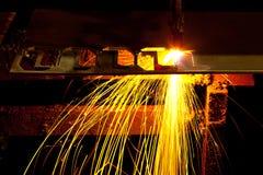 Tagliatrice del laser Fotografie Stock