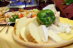 Tagliere del formaggio Fotografia Stock Libera da Diritti
