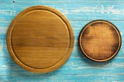 Tagliere della pizza a legno Fotografie Stock Libere da Diritti