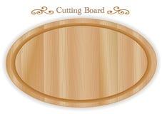 Tagliere di legno, ovale royalty illustrazione gratis