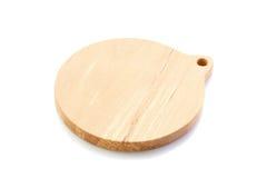 Tagliere di legno su bianco Fotografia Stock Libera da Diritti