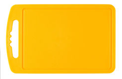 Tagliere di plastica arancio Fotografia Stock Libera da Diritti