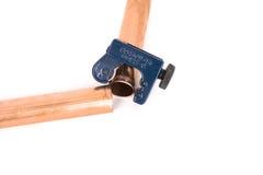 Taglierina di tubo di rame Fotografia Stock