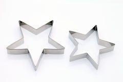 Taglierina a forma di stella del biscotto Immagine Stock Libera da Diritti
