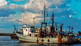 Taglierine attraccate nel porto di Sozopol Fotografia Stock Libera da Diritti