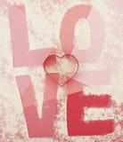 Taglierine del biscotto di amore Immagini Stock Libere da Diritti