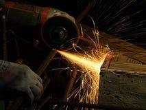 Taglio d'acciaio Immagine Stock