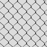 Taglio d'acciaio realistico del reticolato Fotografia Stock Libera da Diritti