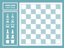 Taglio decorativo del laser del gioco di scacchi Fotografie Stock Libere da Diritti