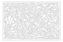 Taglio decorativo del laser del pannello Comitato di legno Modello astratto geometrico moderno elegante 2:3 di rapporto Illustraz Fotografia Stock Libera da Diritti