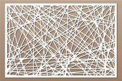 Taglio decorativo del laser del pannello Comitato di legno Modello astratto geometrico moderno elegante 2:3 di rapporto Illustraz Fotografia Stock