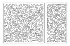 Taglio decorativo stabilito del laser del pannello Comitato di legno Modello astratto geometrico moderno elegante 1:2 di rapporto Fotografia Stock Libera da Diritti