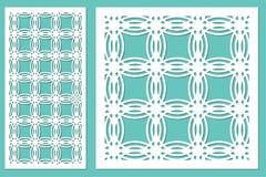 Taglio decorativo stabilito del laser del pannello Comitato di legno Modello circolare geometrico elegante moderno 1:2 di rapport Immagini Stock
