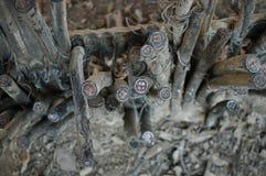 Taglio dei cavi di rame Fotografia Stock