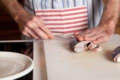 Taglio dei pesci Fotografie Stock Libere da Diritti