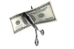 Taglio dei soldi Immagini Stock Libere da Diritti