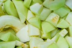 Taglio del cantalupo verde immagini stock libere da diritti