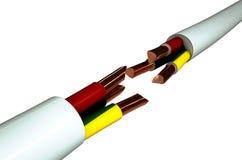 Taglio del cavo elettrico Fotografia Stock