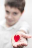 Taglio del cuore di amore del melograno Immagine Stock