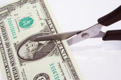 Taglio del dollaro Immagini Stock Libere da Diritti