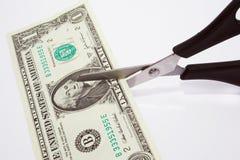 Taglio del dollaro immagine stock