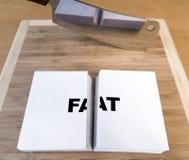 Taglio del grasso fotografie stock